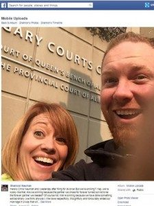 The selfie that Chris and Shannon Neuman took together after filing for divorce.