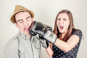 fighting during divorce process