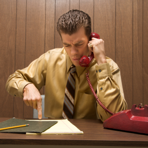 angry man on telephone respect during collaborative divorce