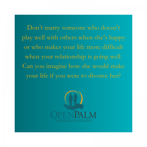 don't marry someone you can't divorce