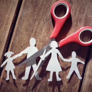 custody family cut by scissors