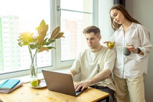 Couple Working from Home
